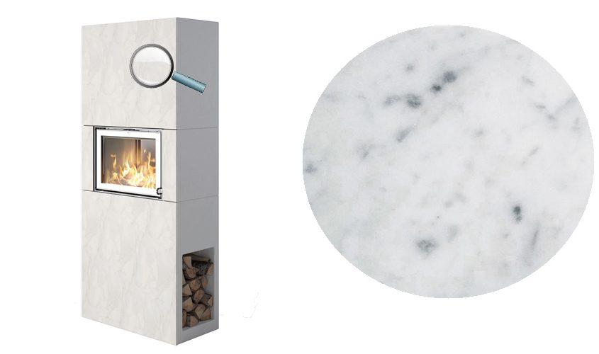 Osaka T hvit-marmorfront Peis fra Nordpeis